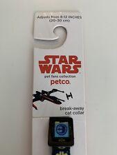 Petco Star Wars Adjustable Cat Collar Break-Awaywith Classic Fighter Icons