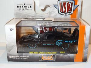 M2 MACHINES AUTO-MODS BLACK 1969 DODGE CHARGER DAYTONA HEMI