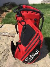 Mint Condition Titleist Hybrid 5 Red/Black Stand Bag Tb9Sx6-60