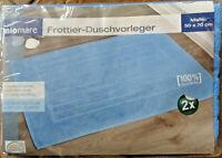 2 x Frottier Duschvorleger * Blau * 50 x 70 cm * Miomare * Neu