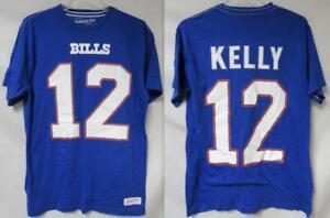 Mitchell & Ness Buffalo Bills Men's M L XL or 2XL Jim Kelly #12 T-Shirt B4 190
