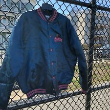 VTG Lowell Spinners Satin Jacket Red Sox Affiliate XL Blue