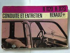 REVUE TECHNIQUE AUTOMOBILE RENAULD R 1120 R 1123 ILLUSTRE