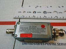 D-204 VOLTAGE DIVIDER 10-1 USED