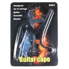 D24 New Quick Change Acoustic/ Electric Guitar Capo lightweight Black