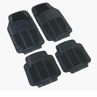 Rubber PVC Car Mats Heavy Duty 4pc Set  No Smell Gripped Back Flexi To fit BMW