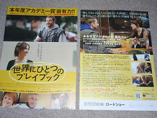 SILVER LININGS PLAYBOOK Japan flyer x2 Bradley Cooper Jennifer Lawrence OSCAR!