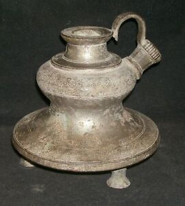 Antique Hindu Traditional Indian Ethnic Bronze Hookah Rare Collectible