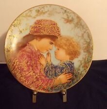 "1988 ""Sarah and Tess"" by Edna Hibel/Edwin M Knowles China/Vintage Mother's Day"