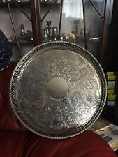 "Nice Silver Plated Circular Gallery Tray By  ""VINERS"" of Sheffield England  No1"