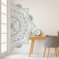 Mandala in Half Wall Sticker, Wall Decal, Removable Vinyl Sticker