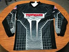 MENS USED TIPPMAN PAINTBALLS LONG SLEEVE BLACK & GRAY JERSEY SIZE 3XL