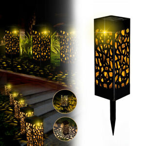 4 er LED Solarlampe IP55 Solarleuchte Garten Solarlampen Außen Wegbeleuchtung