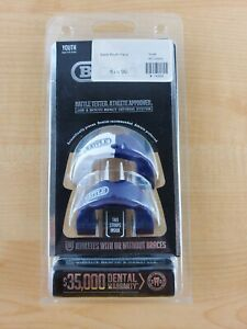 Youth 2 pack Battle mouth piece mouth guard blue and white new in package