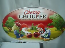 Nouvelle plaque en métal publicitaire pour la bière belge Chouffe (v. annonce)