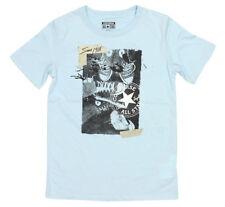 Magliette e maglie blu con logo per bambini dai 2 ai 16 anni