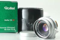 【 N Mint】 Rollei Sonnar 40mm f/2.8 HFT L39 LTM Leica  Mount w/ Adapter Japan