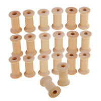 20pcs Vintage Wooden Sewing Tools Empty Thread Spools Sewing Notions Parts