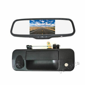 Tailgate Backup Camera &5'' Rear View Mirror Monitor For Toyota Tundra 2007-2013