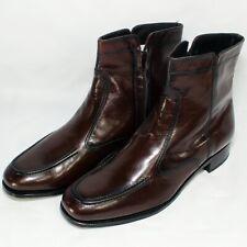 Florsheim Essex Moc Toe Zipper Boot 17074-18 Leather Black Cherry Mens Size 12 D