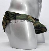 New Men's Camouflage U-briefs Underwear Smooth Boxers Briefs Bulge Pouch Briefs