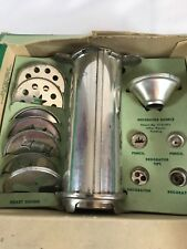 Vintage Aluminum Combination Cake Decorator & Cookie Maker 12 Tips With Recipes