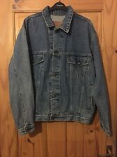 Levi's Blue Denim Oversized Vintage Thrift Hard Rock Cafe Jacket Size Small VGC