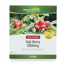 Goji Berry Extract 2000mg 120 Tablets | For The Heart & Skin | Pure Antioxidant