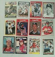 Carlton Fisk - Lot of 12 -  Chicago White Sox - Excellent/Mint Condition - AS IS