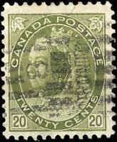 Used Canada 1900 20c F+ Scott #84 Queen Victoria Numeral Issue Stamp
