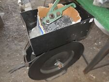 PLASTIC FIBER STRAPPING REEL AND TOOL  WITH CLAMPS REEL NEARLY FULL