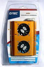 """Alta Qualità DUAL FAN COOLER & Alluminio Dissipatore per 3.5 """"Hard Disk Drive"""