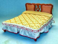 Vintage Deluxe Double Bed Walnut #868 Dollhouse Furniture Miniatures