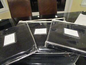 Williams Sonoma Tartan Reversible Velvet Coverlet black King 2 king sham New