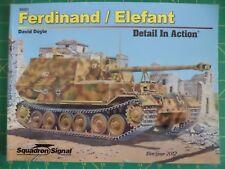 Ferdinand Elefant Detail in Action No. 39001 WWII German Armor Sqd/Sig Publ. NEW