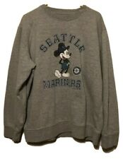 Seattle Mariners Fanatics Branded Disney MLB Gray Mens Pullover Sweatshirt 2XL