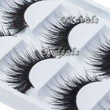 Natural 5 Pairs Thick Makeup False Eyelashes Long Handmade Eye Lashes Extension