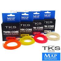 MAP TKS Twin Core Hollow Pole Elastic - 3m - Various Sizes & Colours - Fishing