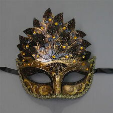 Gold Glitters Venetian Leaf Engraving Masquerade Mask for Women M3237