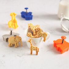 3D Animal 4pcs Useful Elegant Cute Fondant Cake Cutter Cookie Plunger Decor Mold