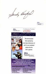 Sandy Koufax Signed Vintage 3x5 Index Card - LA Dodgers - Brooklyn Dodgers - JSA