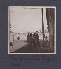 Le Départ des soldats de Toulon pour Salonique Grèce Vintage argentique 1916