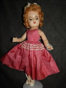 VINTAGE 1930 ARRANBEE ALL COMPOSITION 18 INCH DRESSED DOLL NANCY