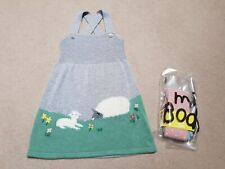 Mini Boden Baby Girls Knitted Sheep Dress & Matching Tights 18-24 Months BNWT