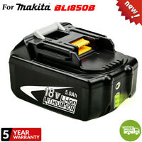 NEW BL1850B 18V Lithium 5.0Ah Replace Battery For Makita Fuel Gauge Fr Drill,Saw