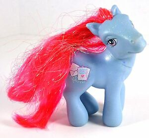"""My Little Pony Love Wishes 4.5"""" tall Blue MLP with Pink Hair MLP"""