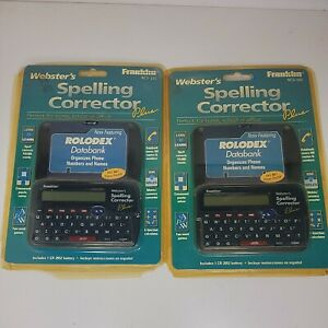Lot of 2 Franklin NCS-101 Webster's Spelling Corrector Plus SEALED Needs Battery