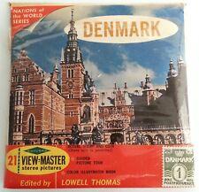 Denmark Vintage Sawyers Set ViewMaster B 155 Includes Booklet & Postage Stamp