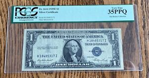1935 E $1 UNITED STATES. SILVER CERTIFICATE - VERY NICE DETAIL- VF 35 PPQ - PMG