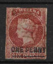 ST.HELENA SG3 1863 1d LAKE IMPERF USED